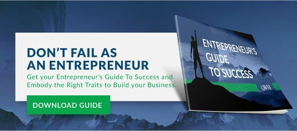 Don't fail as an entrepreneur. Get your Entrepreneur's Guide To Success and Embody The Right Traits to Build your Business.
